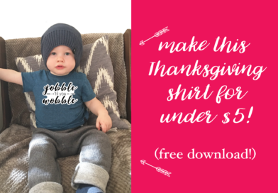 DIY Fun Thanksgiving Shirt . . . for UNDER $5!