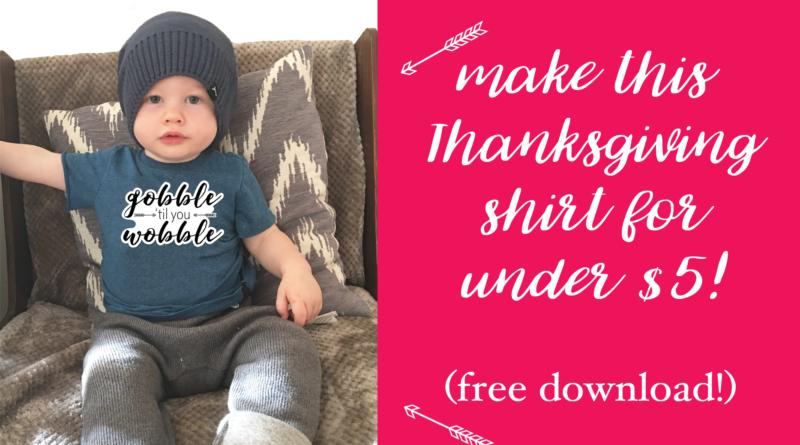 DIY Fun Thanksgiving Shirt . . . for UNDER $5!